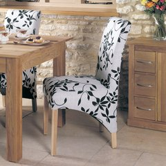 Baumhaus Oak Full Back Upholstered Dining Chair Vintage Floral (Set of 2)