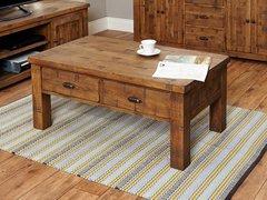 Baumhaus HEYFORD Rough Sawn Oak Four Drawer Coffee Table
