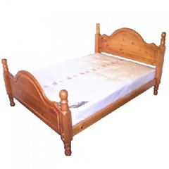 Beacon SOLID Pine High Foot End Bed Frame 4' 6' Double Bed