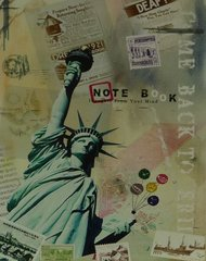 NY Postcard - 35cm x 28cm - 24mm Thick Wooden Base