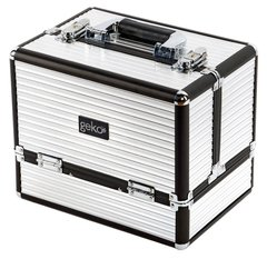 Vanity Case / Makeup Box Black & Silver