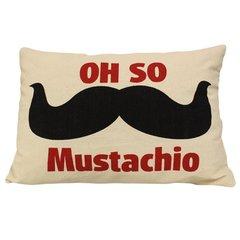 Oh So Mustachio Cotton Canvas Cushion