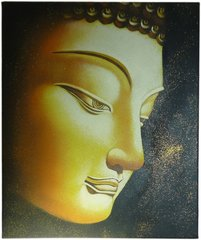 Golden Buddha - 50cm x 60cm Real Art Painting, Oil on Canvas