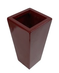 50cm Tall Fibreglass Tapered Planter Red Gloss