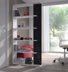 DAHLIA Black and White Gloss Bookcase