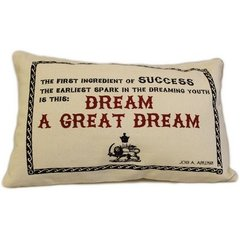 A Great Dream Cotton Canvas Cushion