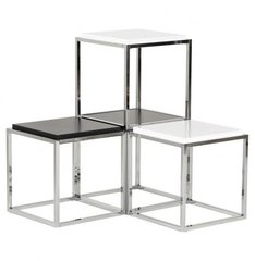 KOKOON Kvadra Multiuse Table / Cube Stackable Black