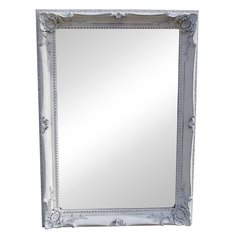 FRENCH White Disteressed French Style Traditional Mirror