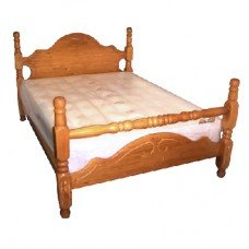 Dacorum 4' 6' Double Bed SOLID Pine Wood Bed
