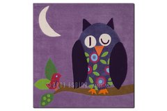 Arte Espina Childrens Purple Owl Rug