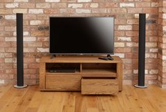 Baumhaus OLTEN Small Widescreen TV Cabinet with Two Drawers