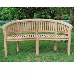 Bowood Teak Curved Garden Bench 150cm