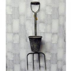 Garden Rusty Metal Fork With Pot