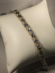 B148 10k Two Tone Bracelet
