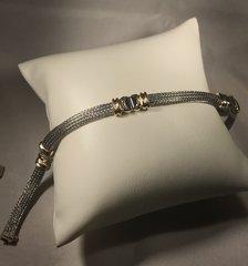 B172 14k White and Yellow Gold Mesh Bracelet