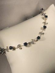 B113 14k White Gold Sapphire Bracelet