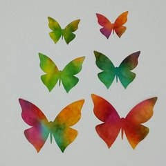 Butterflies, set of 6, Laser Cut and Pre-Fused