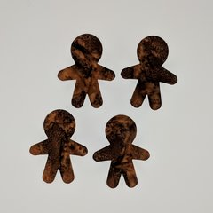 Gingerbread Men, Laser Cut and Pre-Fused Applique Embellishments