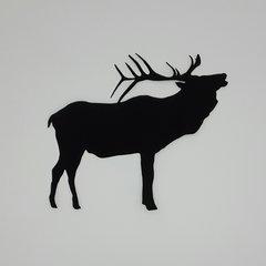 Bugling Elk, Laser Cut and Pre-fused Applique Embellishment