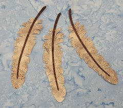 Feather two piece, Laser Cut Applique, three piece set