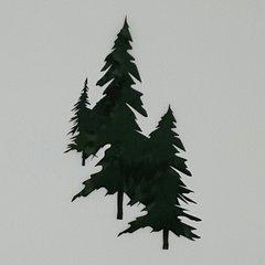 Pine Tree Set, Laser cut and pre fused applique embellishment