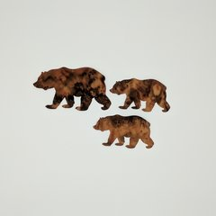 Bear and Cubs, Laser Cut 3 pc applique set