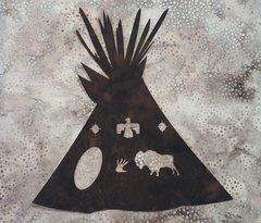 Teepee with Cutouts, Laser Cut Applique