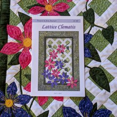 Lattice Clematis Wall Hanging Quilt Kit