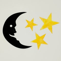 Mr. Moon and Stars Laser Cut Applique