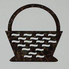 Flower Basket, Laser Cut and Pre-fused Applique Embellishment
