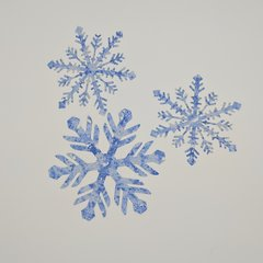 Snowflakes, Laser Cut and Pre-Fused, Applique Embellishments