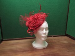 C.C. Fascinator Hat - Red