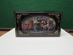 Hand-painted Russian Troyka Palekh Lacquer Music Box