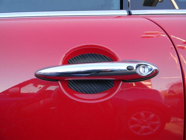 AUTO ACCESSORIES CARBON FIBER CAR DOOR HANDLE CUP SCRATCH GUARD P ...