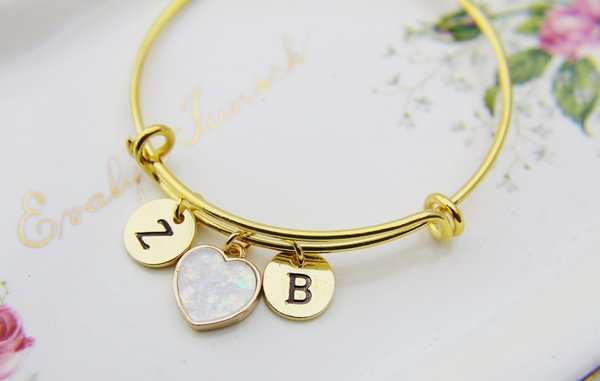 il market stacking etsy stacked gift sterling bangles bangle personalized silver