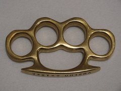 VSETKO UMIERA - Real Deal 100% Solid Brass Knuckles