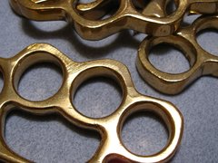 Blemished - Real Deal 100% Solid Brass Knuckles