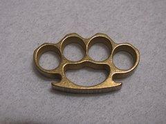 Mini Brass Knuckles Lanyard Bead - Brass