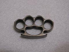 Mini Brass Knuckles Lanyard Bead - Titanium