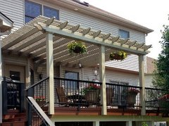 Clay Classic Attached Vinyl Pergola Kit 12' wide x 10' projection