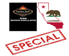 ***SPECIAL*** 20 Pound Bag of Lumberjack Pellets Delivered in California