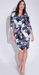 Floral Craze V-Neck Midi Dress