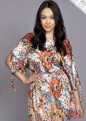 Coral Multi Split Tassel Sleeve Dress