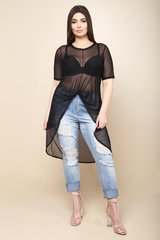 Knotted Mesh High-Lo Top