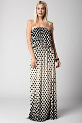 Diamond Strapless Halter Maxi Dress