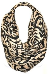 Taupe Tribal Infinity Scarf