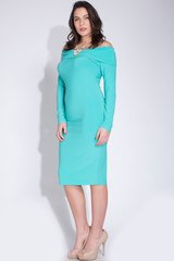 Off-Shoulder Long Sleeve Solid Midi Dress