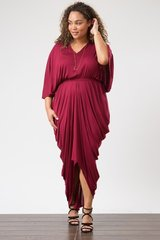Magenta 3/4 Sleeve Goddess Dress