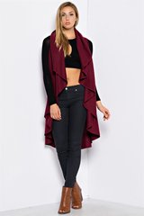 Mulberry Ruffle Two-Way Cape Vest