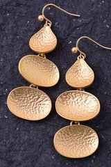Hammered Tiered Earrings